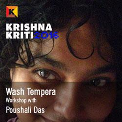 Traditional methods and the glory of contemporary language: wash tempera Poushali Das