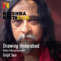 Drawing Hyderabad - Artist Interaction with Orijit Sen