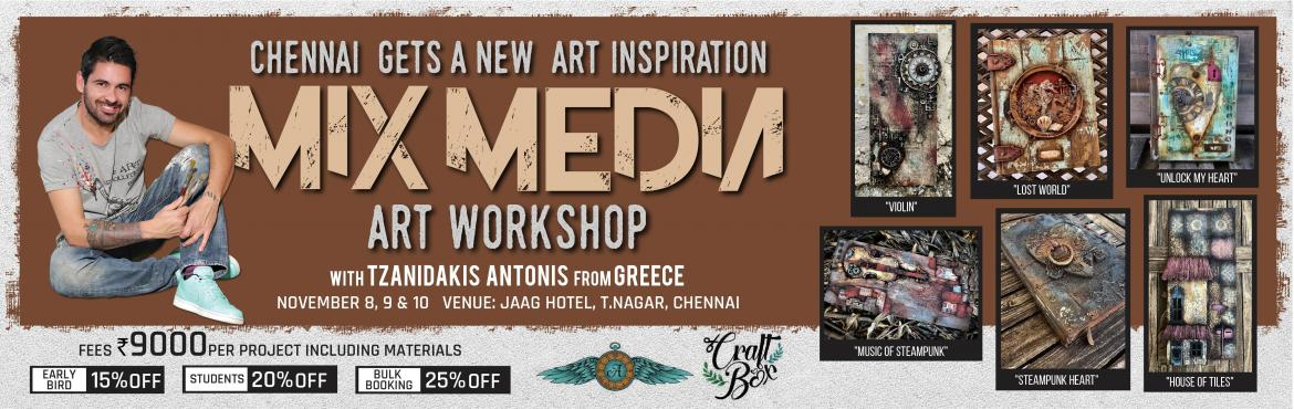 Mix Media Art Workshop with Tzanidakis Antonis fro