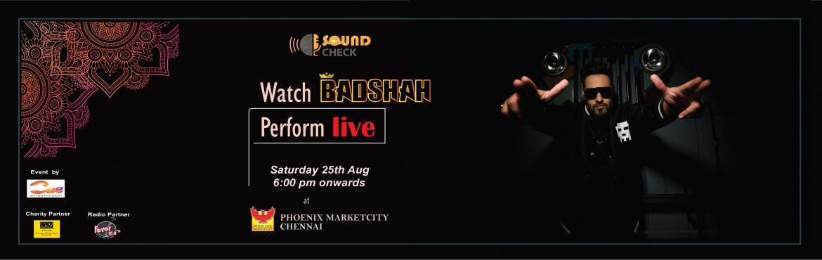Sound Check by Cue Entertainment presents Badshah