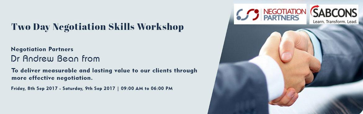 Two Day Negotiation Skills Workshop