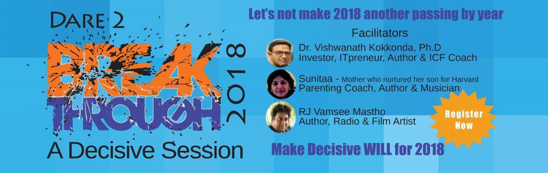 Workshop BREAKTHROUGH 2018 - A Decisive Session