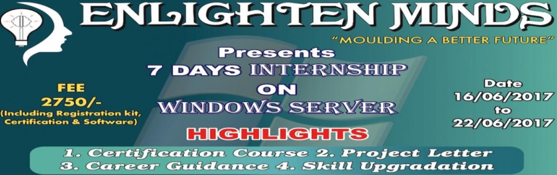 7 DAYS INTERNSHIP ON WINDOWS SERVER IN CHENNAI