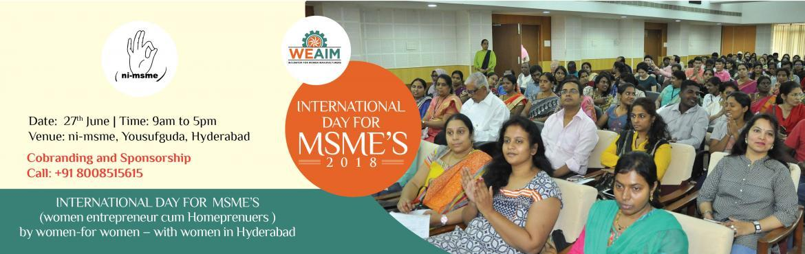 INTERNATIONAL DAY FOR MSMES 2018