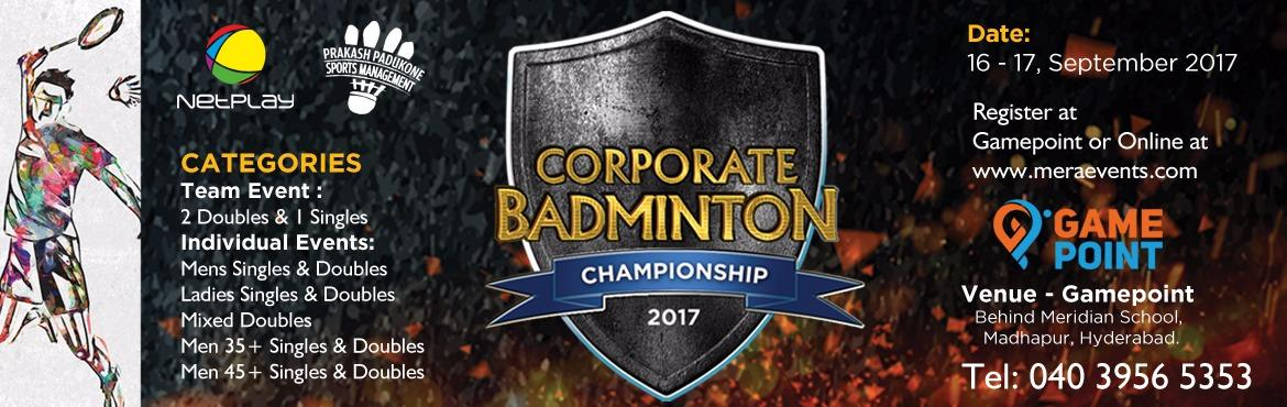 Netplay-PPSM Corporate Badminton Championship
