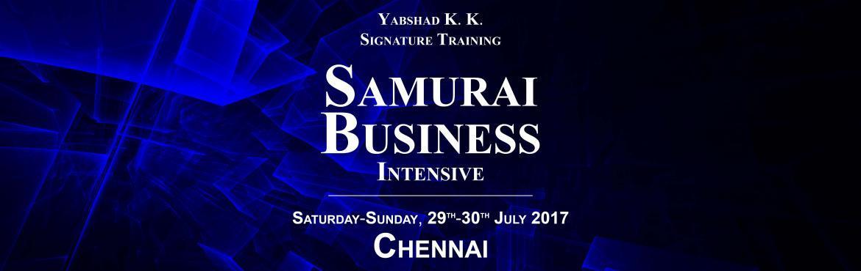 Samurai Business Intensive, Chennai - Yabshad K. K