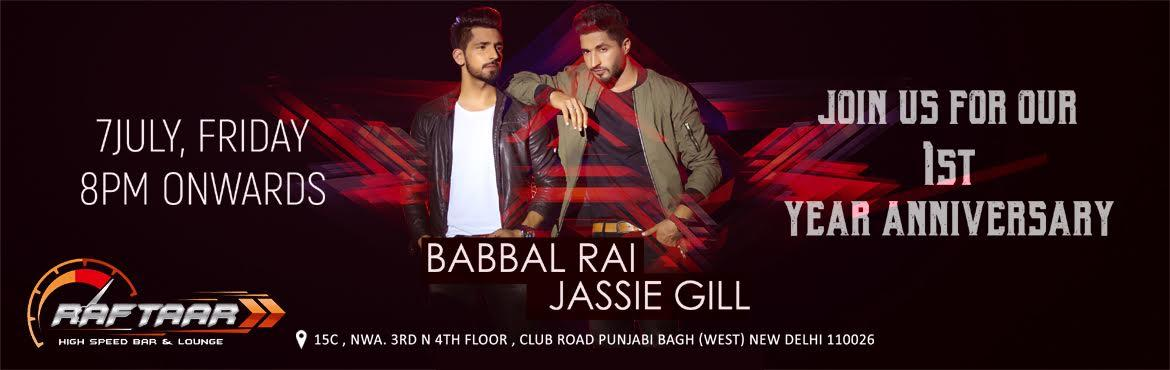 Raftaar 1st Anniversary with BABBAL RAI AND JASSIE